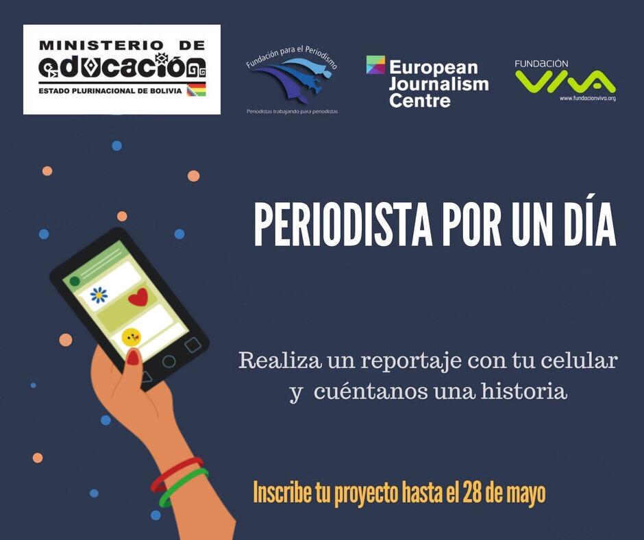 """Programa """"Periodista por un día"""" 2018 – EducaMedios – Alfabetización ..."""